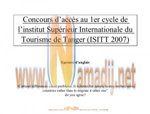 isit tanger Epreuve anglais 2007.pdf www.namadij.net